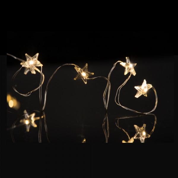 Lichterkette LED-Sterne, L500cm